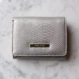 Anne Klein   Silver Alligator Wallet